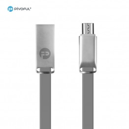 Pivoful Charging Data Sync Cable, 3ft Durable Cables For iPhone Android - Micro USB cable (GRAY - 5pin for Android)