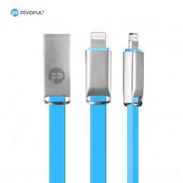 Pivoful Charging Data Sync Cable, 3ft Durable Cables For iPhone Android - Micro USB cable (BLUE - 8pin for iPhone)