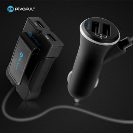 Pivoful 4 Port USB Passenger Car Charger Cable Road Rockstar Back Seat (5V 7.2A)